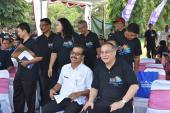 Kepala Badan Bahasa, Dadang Sunendar, dan Kepala Dinas Kebudayaan Provinsi Bali, Dewa Putu Beratha.