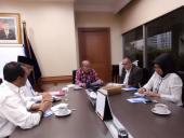 Pertemuan Pimpinan Badan Bahasa dengan Mendikbud Terkait Penyelenggaraan Puncak Bulan Bahasa 2016 di Hotel Bidakara Jakarta, 28 Oktober 2016