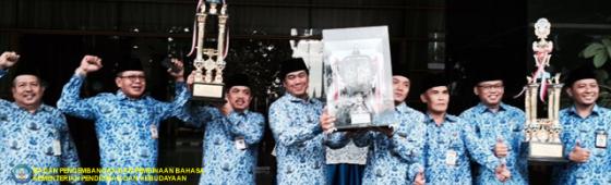 Badan Bahasa Raih Juara Umum Ketiga