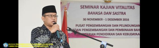 Badan Bahasa Gelar Seminar Kajian Vitalitas Bahasa dan Sastra Daerah