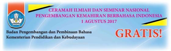 Badan Bahasa Menggelar Ceramah Ilmiah dan Seminar Nasional