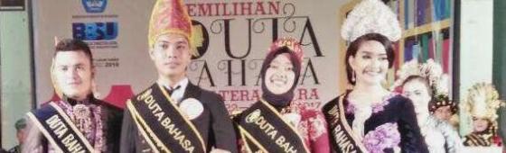 """""""Rupawan karena Bahasa"""" Winro Tamba dan Yunita Marpaung Dinobatkan sebagai Duta Bahasa Sumut 2017"""