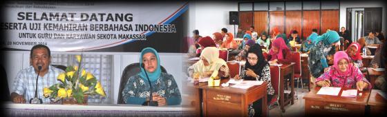 Badan Bahasa Menggelar Uji Coba Pembakuan Soal UKBI di Makassar