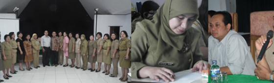 Badan Bahasa Melakukan Sosialisasi Uji Kemahiran Berbahasa Indonesia (UKBI) di Dinas Pendidikan Kota Manado